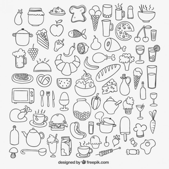 Hand Drawn Food Vectors, Photos and PSD files.