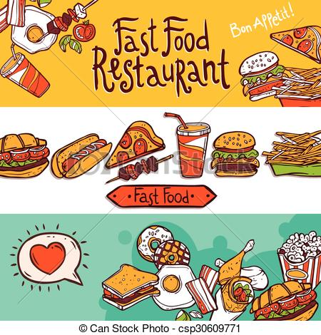Fast Food Banners.