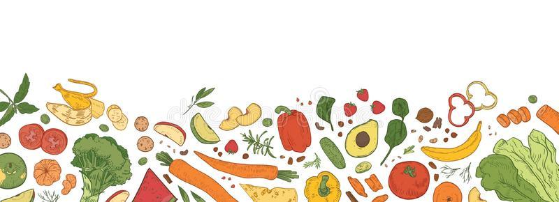 Border Food Stock Illustrations.
