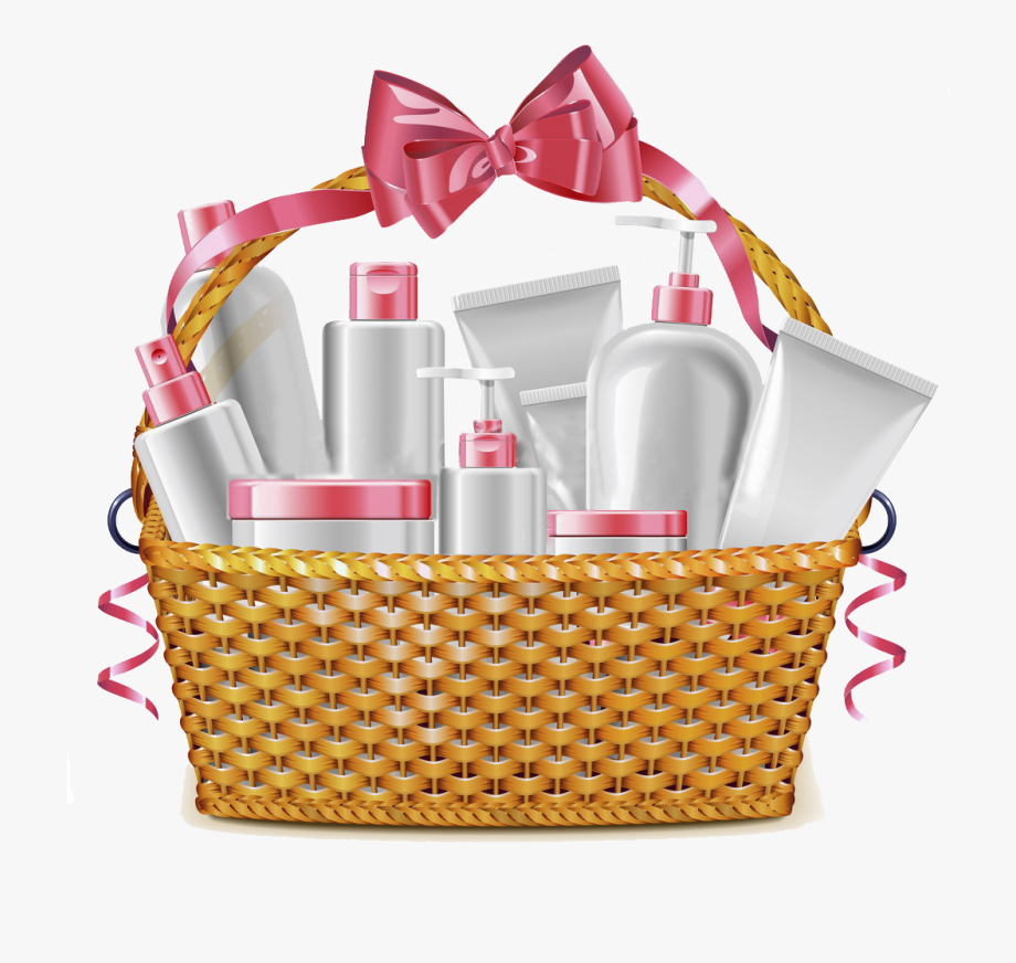 Black And White Library Cosmetics Food Gift Baskets.