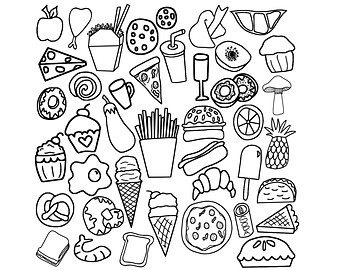 Food clipart black and white 3 » Clipart Station.
