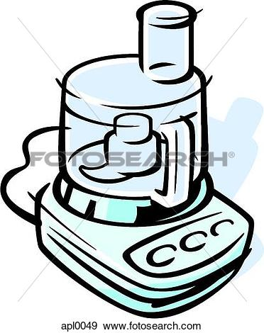 Stock Illustration of Drawing of a food processor apl0049.