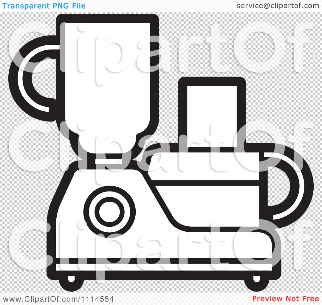 Clipart Black And White Kitchen Food Processor Or Blender.