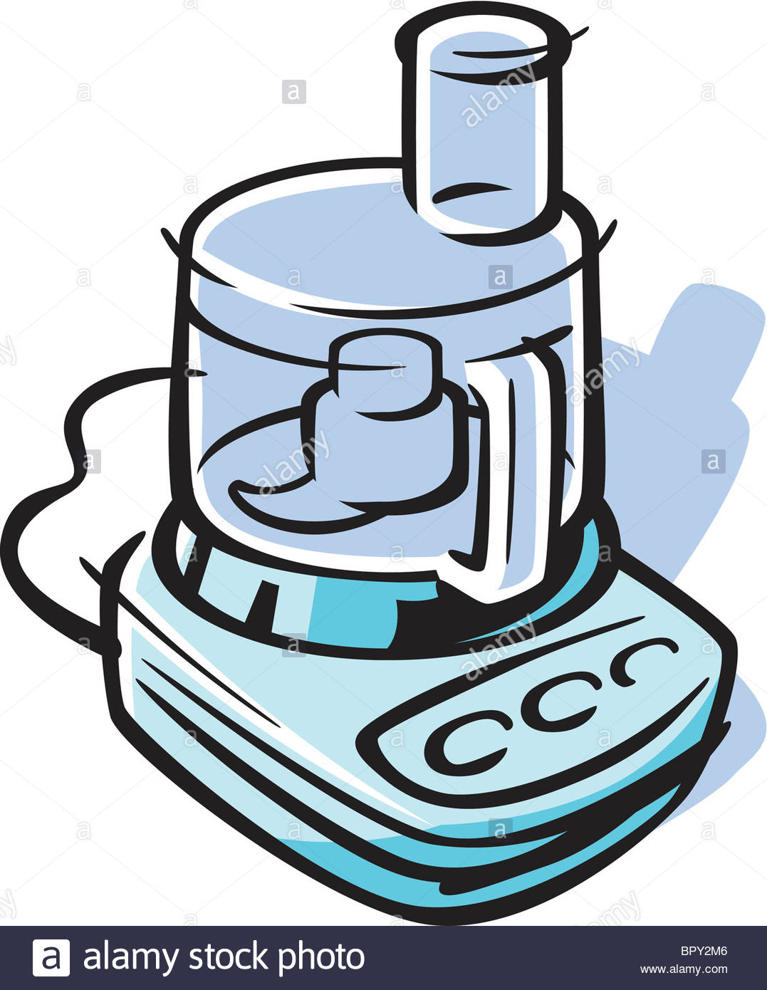 Drawing Of A Food Processor Stock Photo, Royalty Free Image.