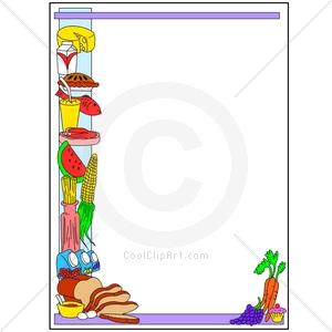 Food Borders Cliparts.