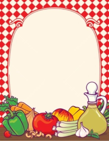 free fruit and vegetable page borders.
