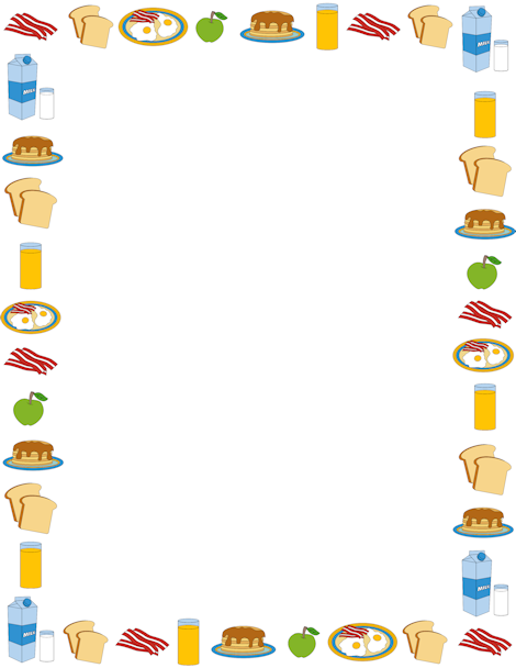 Clipart Free Frame About Funny Food #61806.