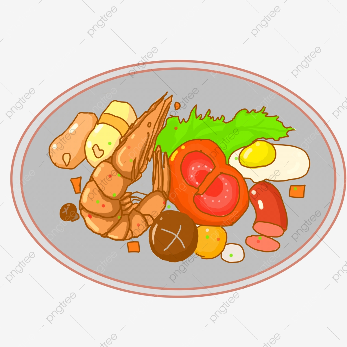 Hand Painted Food Food Food, Buffet, Illustration, Food PNG.