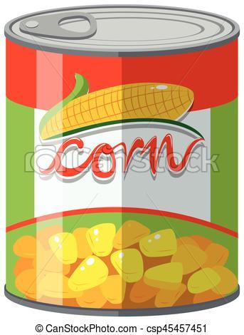 Sweet corn in can.