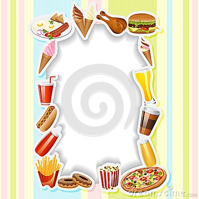 Fast Food Card Royalty Free Stock Images.