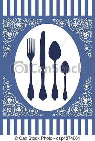 Vector Clip Art of Menu of food card.