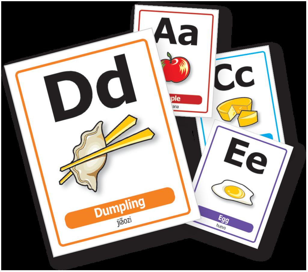 Alphabet Food Cards.