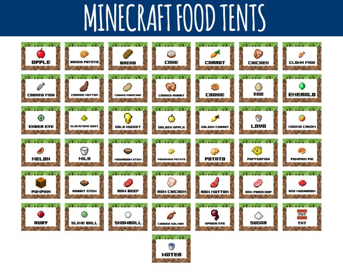 Minecraft Food Clipart.