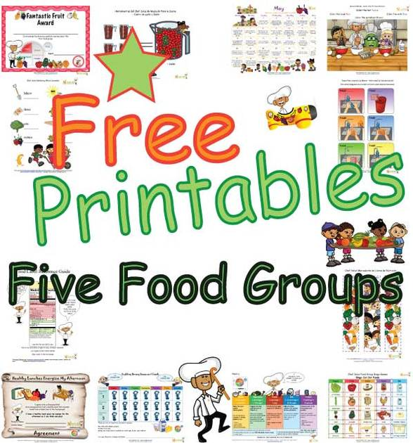 Free Clipart For Food Pyramid Word Cards.