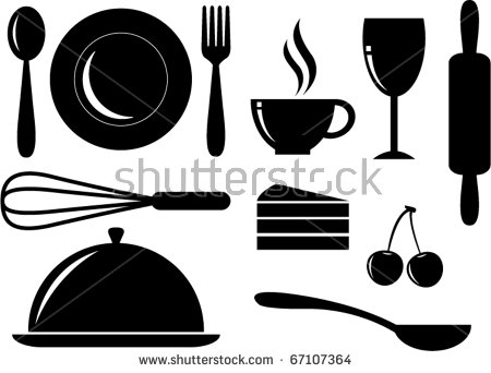 Food Silhouette Stock Images, Royalty.