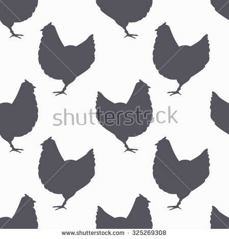 Chicken Silhouette Stock Images, Royalty.