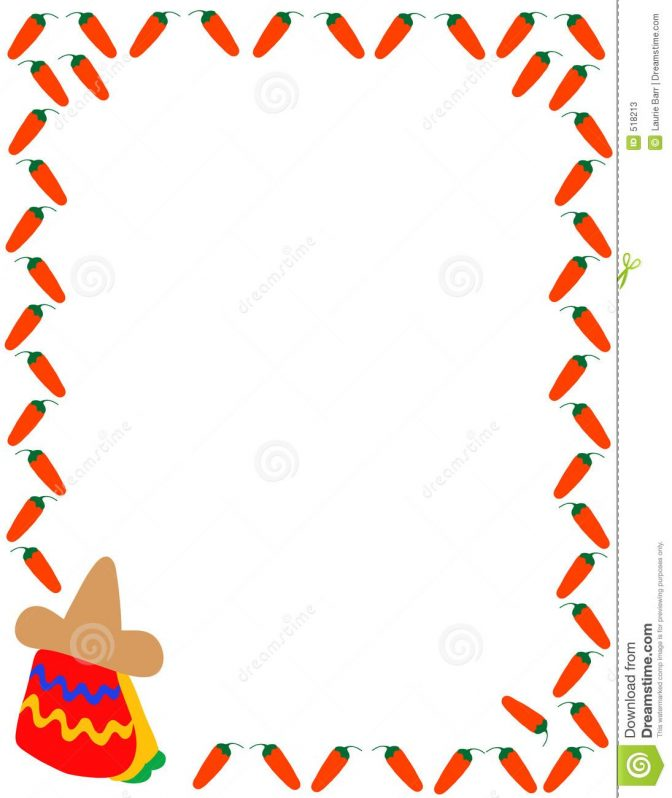 color pages ~ Free Download Mexican Food Border Clip Art.