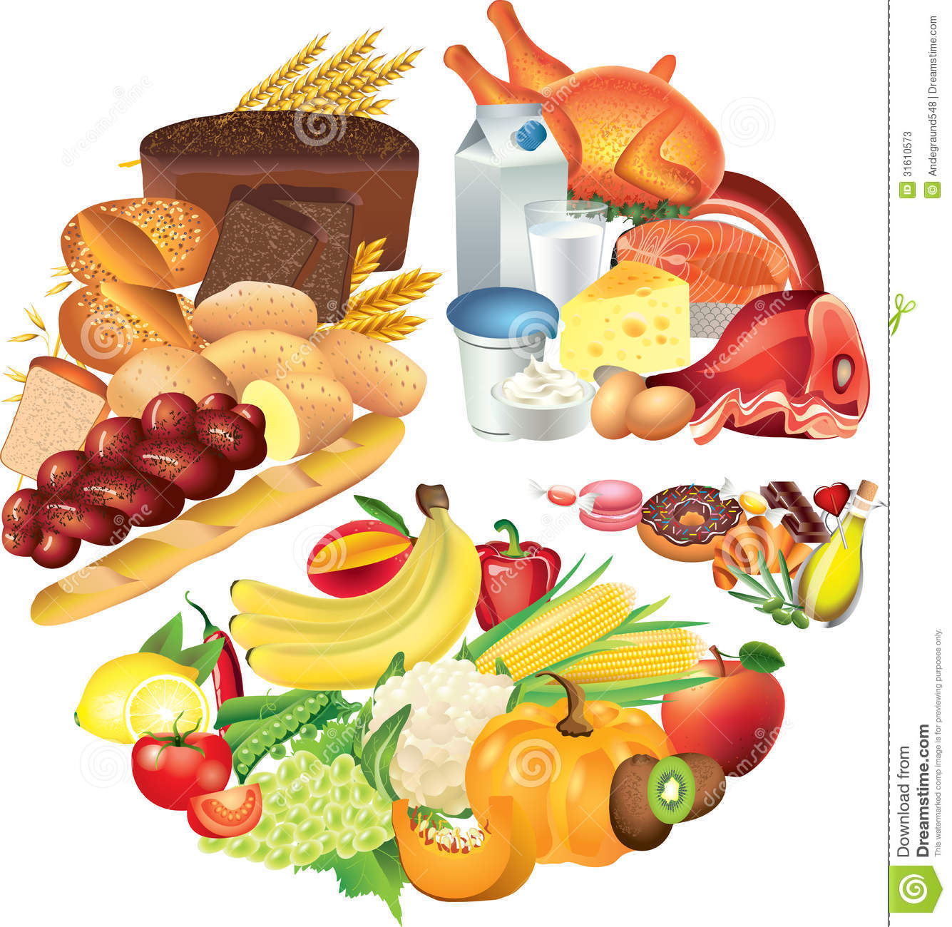 Food Clipart Chart.