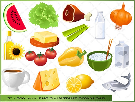 Chart Healthy Food Clip Art.