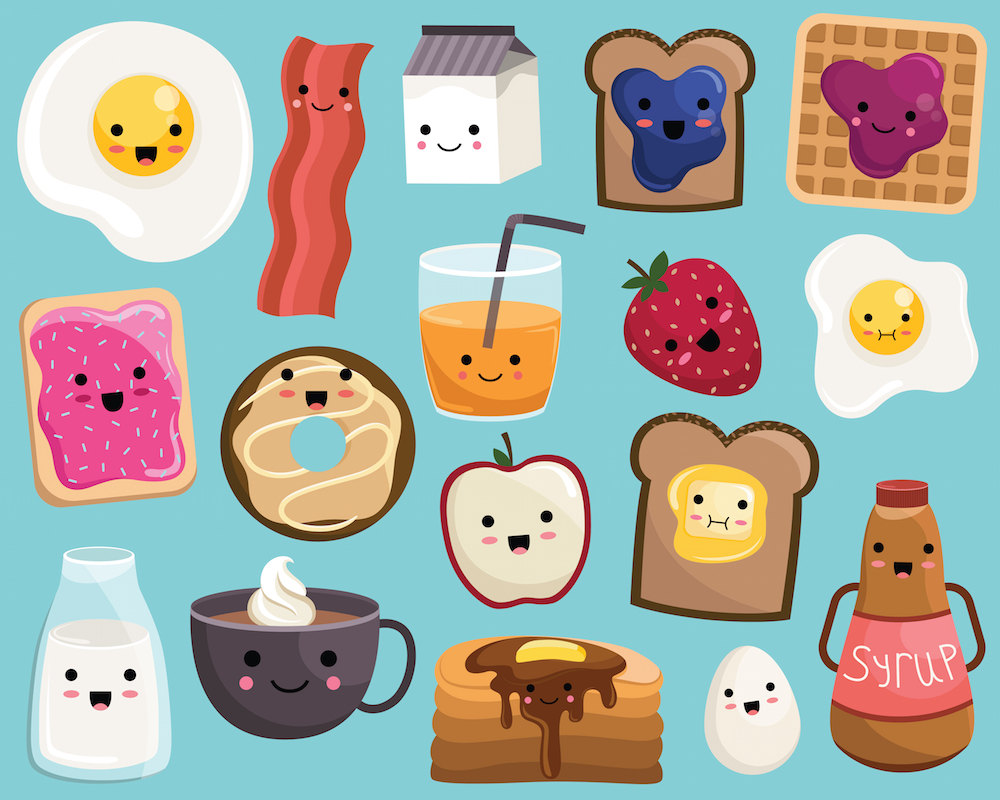 Cute Clipart Food.