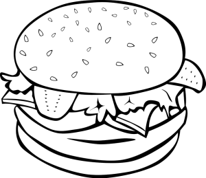 Black And White Clipart Of Food.