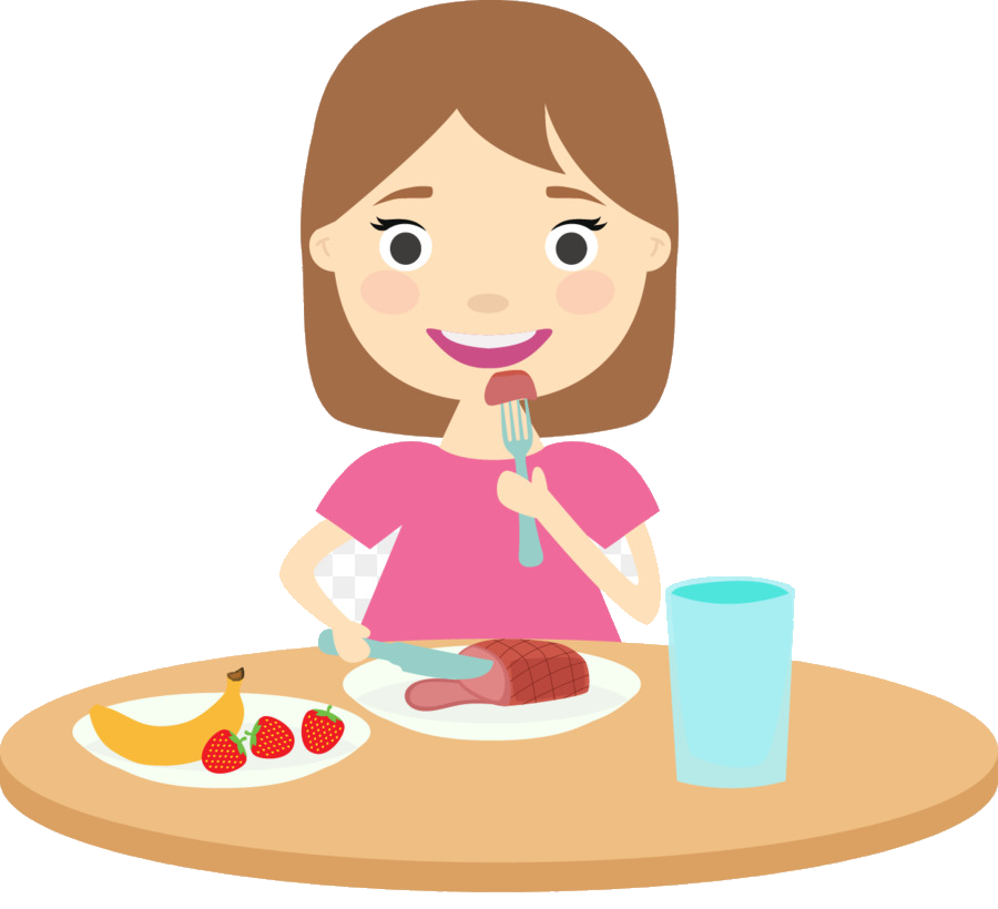 Healthy Food Kids Eating Clipart Transparent Png.