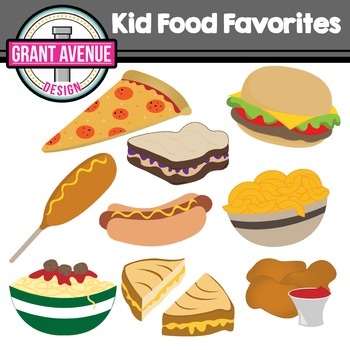 Kid Food Clipart.