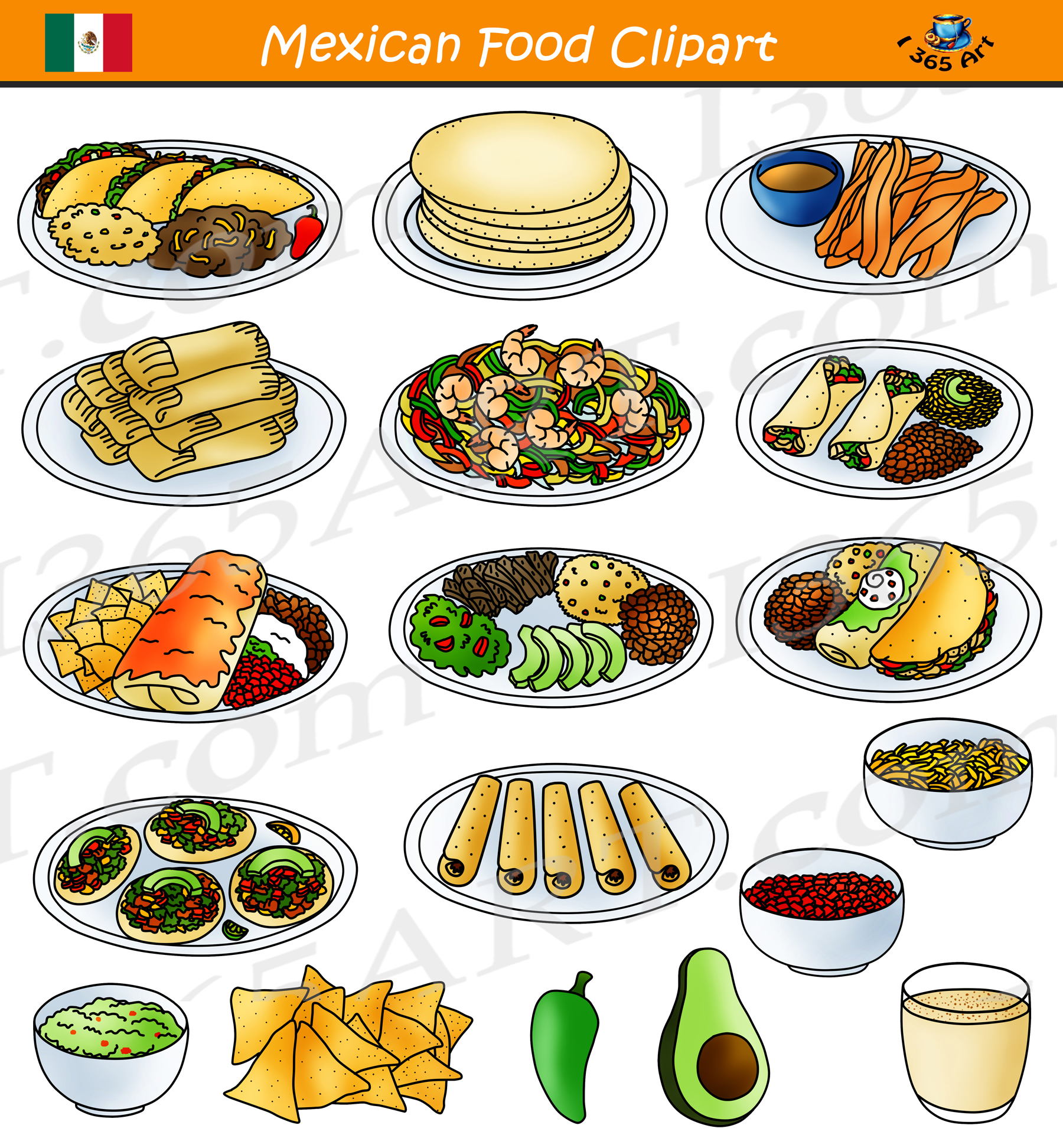 Mexican Food Clipart.