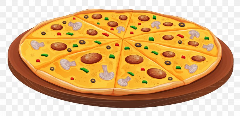 Pizza Fast Food Pepperoni Clip Art, PNG, 4605x2236px, Pizza.