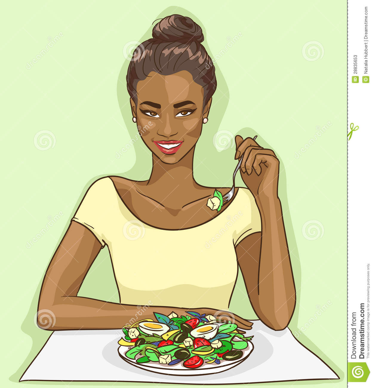 Showing post & media for Women eating food cartoon.