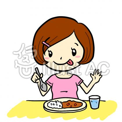 Girl Food Eating Clipart.
