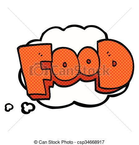 Thought bubble cartoon word food Vector Clip Art EPS Images. 30.