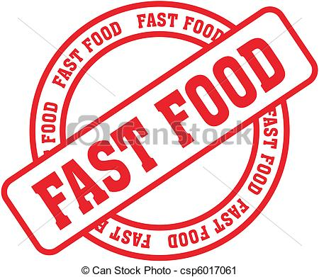 Vector Clip Art of fast food word stamp8.