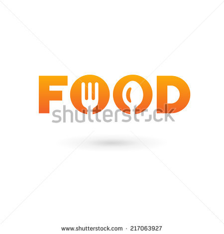 Food Word Sign Logo Icon Design Stock Vector 217063930.