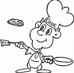 food cooking clipart black and white - Clipground