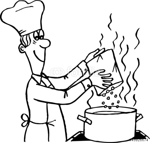 Food Cooking Clipart Black And White Clipground