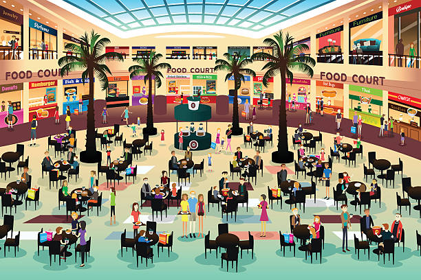 Best Food Court Illustrations, Royalty.