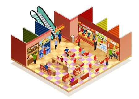 1,401 Food Court Stock Vector Illustration And Royalty Free Food.