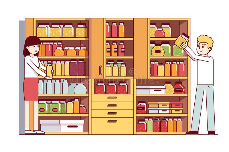 Food Pantry Stock Illustrations.