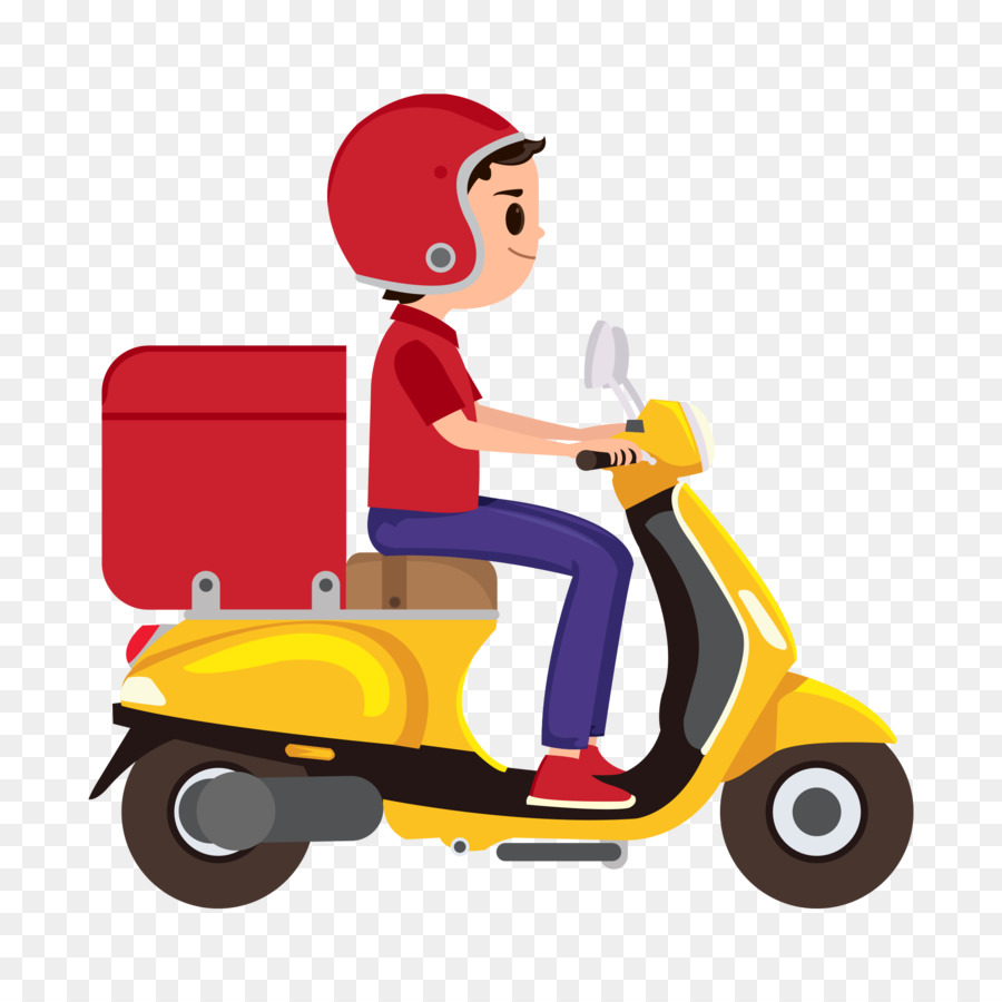 Delivery Cartoon png download.