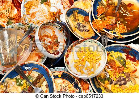Stock Photos of Dirty dishes.