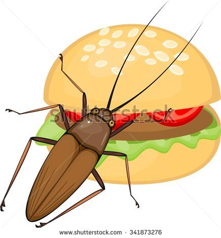 Silhouette Cockroach Stock Vector 341873285.