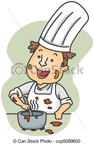 Stock Illustration of Dirty Chef.