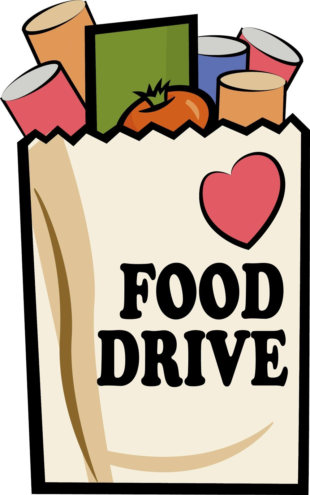 Canned Food Drive Poster.