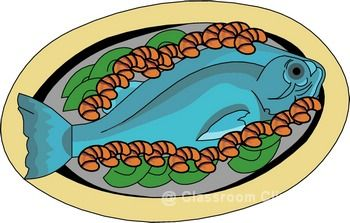 Food fish clipart.