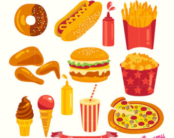 Fast Food Clipart Hamburger Clip art Coffee clip art Food Vector.