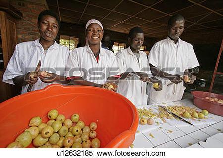 Stock Image of burundi agakura youth project in gitera jam food.