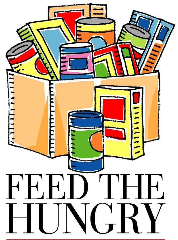 Youth food drive clipart.