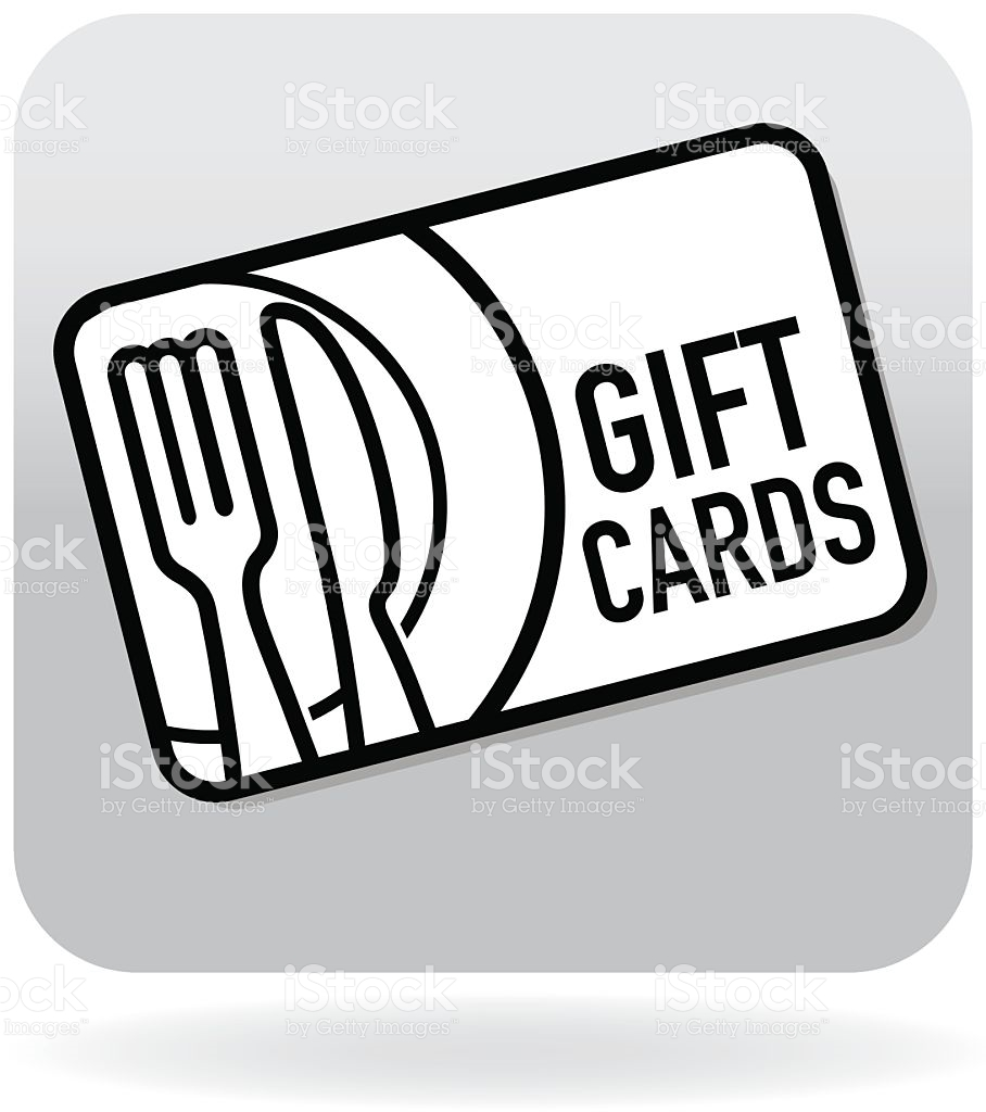 Royalty Free Restaurant Food Gift Card Swipe Card Icon stock.