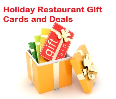 Holiday Restaurant Gift Card Deals List [2016].